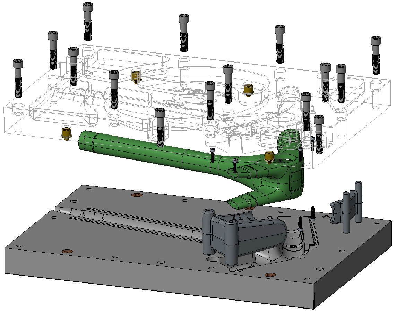 Bottom Bracket Mold CAD